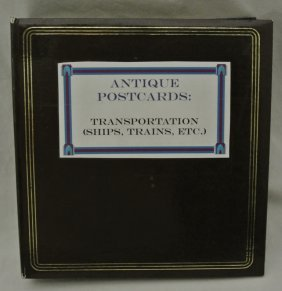 Postcard Collection In Binder