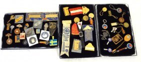 1939 New York World's Fair (3) Trays Of Souvenirs: