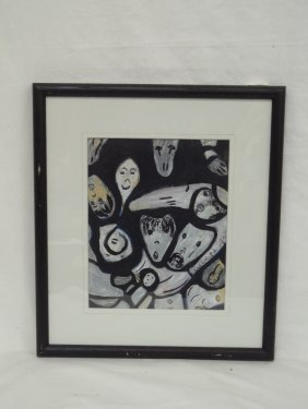 Original Acrylic Folk Art Painting By Rev. Albert