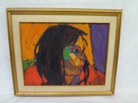 Oil On Canvas Ojibwa Artist Arthur Shilling (1941-1986)