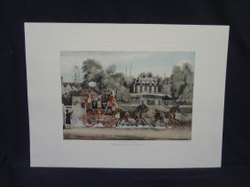 Royal Mail Coach 1824 Hand Colored Engraving By J.