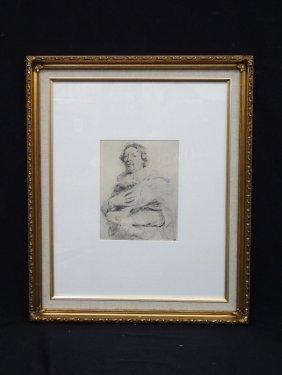 "Portrait Of ""gaspar De Crayer"" Lithograph By Antony Van"