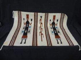 Authentic Navajo Textile Rug Of Navajo Dancer 38 By