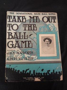 "Vintage 1908 Sheet Music ""the Sensational Baseball"