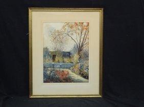 Hans H. Volck Cleveland School Original Watercolor