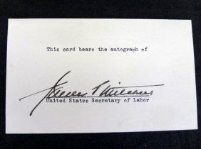 James Mitchell Us Secretary Of Labor Cut Signature Loa