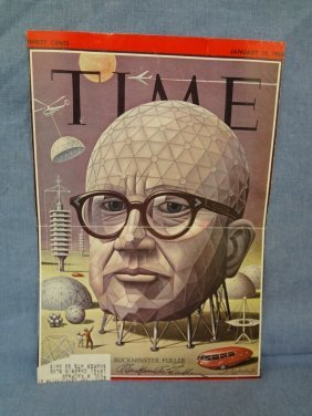 Buckminster Fuller Autographed Time Magazine Cover