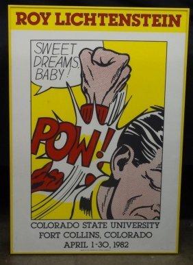 """Roy Lichtenstein """"sweet Dreams Baby"""" Exhibition Poster"""