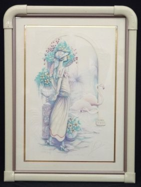 "Mary Vickers ""afternoon Rendevous"" Signed Artist Proof"