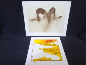 """(2) Signed Lithographs Peter Parnall """"ladybugs"""" And"""