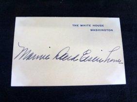 ?mamie Eisenhower÷ Cut Signature On White House Card
