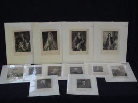 (12) Original Engravings Famous, Influential People Of