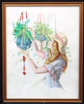 Mary Vickers Signed Watercolor