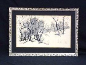 "Betty Woodworth Clark Original Watercolor ""snowy"