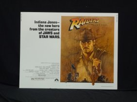 Raiders Of The Lost Ark Promotional Movie Poster 1981