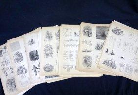1859 Original Woodblock Prints Representing Tools,