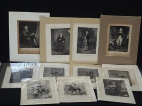 (14) Original Engravings Famous, Influential People Of