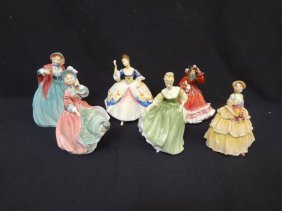 (6) Royal Doulton Figurines: Christine, Irene, Spring