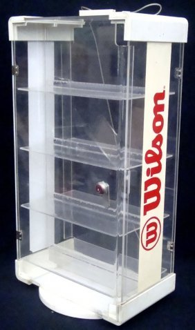 Vintage Wilson Baseball Counter Top Display Case