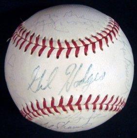 1969 New York Mets Multi-signed Onl Baseball, (21) W