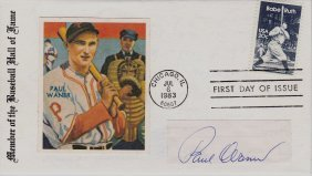 Paul Waner Autographed First Day Cover
