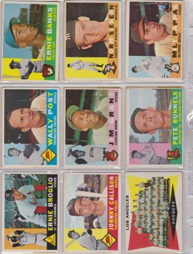 1960 Topps Baseball Near Set With All Stars, High Grade