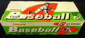 1958 Topps 5 Cent Baseball Empty Wax Pack Display Box