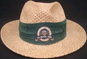 1996 Us Senior Open Signed Straw Golf Hat (5) Sig W