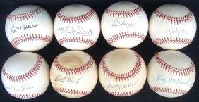 Lot Of (8) Single Signed Baseballs By Pitchers