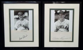 Pair Of Early Indians Cut Signatures; Allie Reynolds,