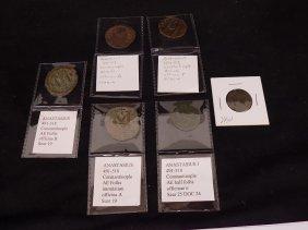 (6) Byzantine Coins. Anastasius. Ae Follis.