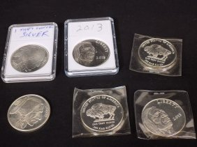6 Troy Ounces .999 Silver Indian Head & Buffalo Reverse