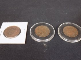 (3) Us Large Cent Lot 1837, 1856 & 1846