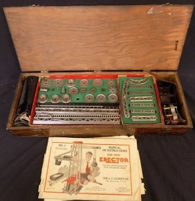 Ac Gilbert Erector Set #7 Circa 1924/1925 Organized In