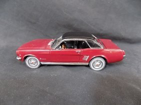 1966 Ford Mustang Burgundy Hardtop Coupe With Box