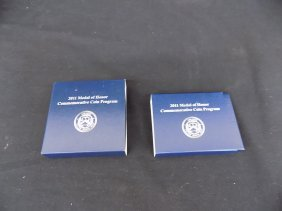 2011 Medal Of Honor Proof & Unc Silver Dollar Sets In