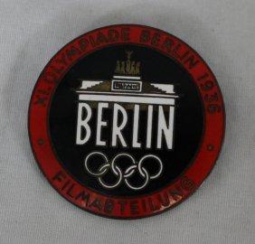 1936 Berlin Olympics Press Pin