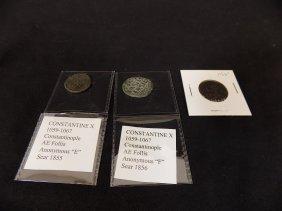 (3) Byzantine Coins Constantine X, Ae Follis