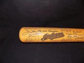 1995 Cleveland Indians Heavy Hitters Laser Engraved Bat