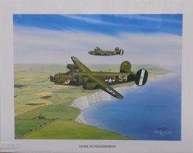 Home To Halesworth Sam Lyons B-24 Liberator Print
