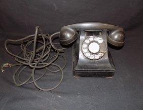 1940's Western Electric Bell System F1 Black Desk