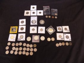 Misc Silver Lot Us Coin, Inter Coin & Silver Rounds