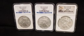 2007, 2008, 2012 American Silver Eagles Early Releases