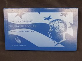2014 S P D W Kennedy 50th Anniversary 4pc Silver Set W/
