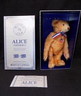 1993 Steiff Limited Ed Replica Alice 1903 Blonde Mohair