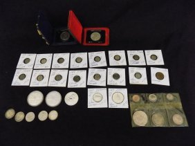 Canadian Silver Coin Lot 5 Cents, Dollars, Etc