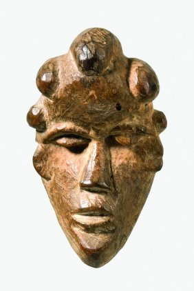 "Miniature Mask ""geh Naw"" - Liberia, Bassa"