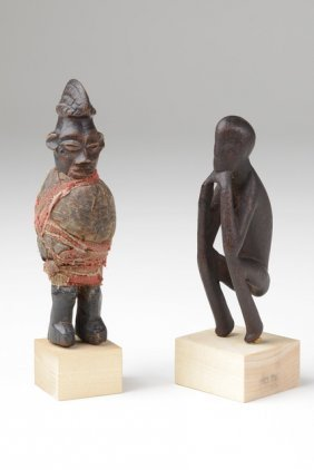 Squatting Figure - D. R. Congo, Chokwe