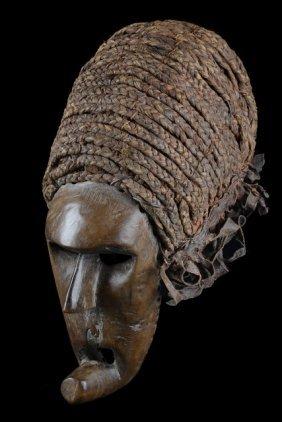 "Mask Representing A Foreigner ""katoyo"" - Angola, Chokwe"