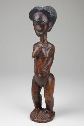 Standing Female Figure - Côte D'ivoire, Guro/baule